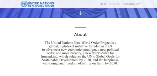 UNITED NATIONS OPENLY PROMOTING THE NWO